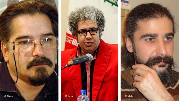 سه عضو کانون نویسندگان ایران: رضا خندان مهابادی، آبتین بکتاش، کیوان باژن