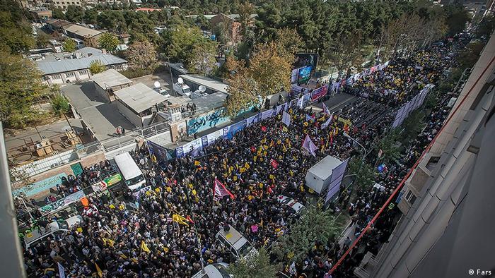 Демонстранти в Тегерані