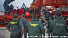 Spanien Migranten erreichen San Roque