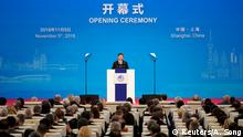 Chinese President Xi Jinping speaks at the opening ceremony for the first China International Import Expo (CIIE) in Shanghai, China November 5, 2018. REUTERS/Aly Song/Pool