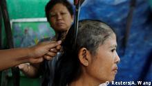 Myanmar Handel mit Menschenhaar