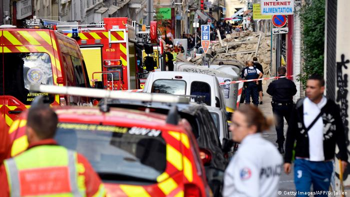 Building collapse in Marseille