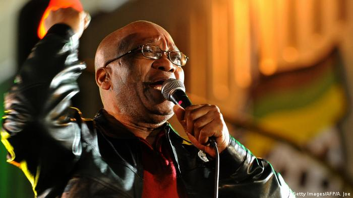Former South African president Jacob Zuma campaigning
