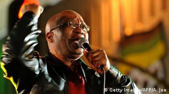 Jacob Zuma in Lederjacke