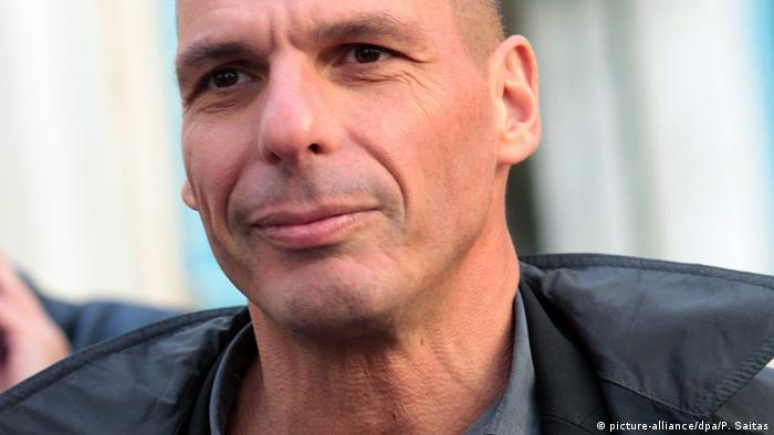 Giannis Varoufakis in Lederjacke (picture-alliance/dpa/P. Saitas)