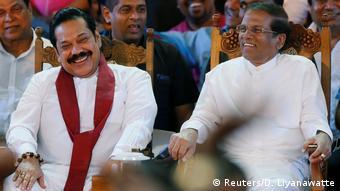 Sri Lanka Mahinda Rajapaksa, Premierminister & Maithripala Sirisena, Präsident (Reuters/D. Liyanawatte)