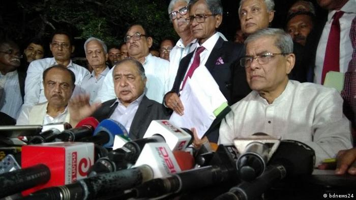 Bangladesch Kamal Hossain and BNP Secretary General Mirza Fakhrul Islam Alamgir