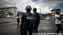 Kamerun Polizisten in Buea