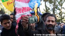 Iran Protest gegen US-Sanktionen in Teheran (Getty Images/AFP/A. Kenare)