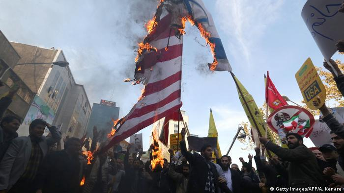 Protest in Tehran against US sanctions on Iran (Getty Images/AFP/A. Kenare)