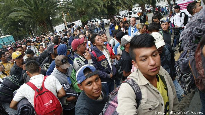Mittelamerika Flüchtlings-Caravan Richtung USA