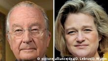 Ex-King Albert II and Delphine Boel (picture-alliance/dpa/D. Lebrun/D. Waem)