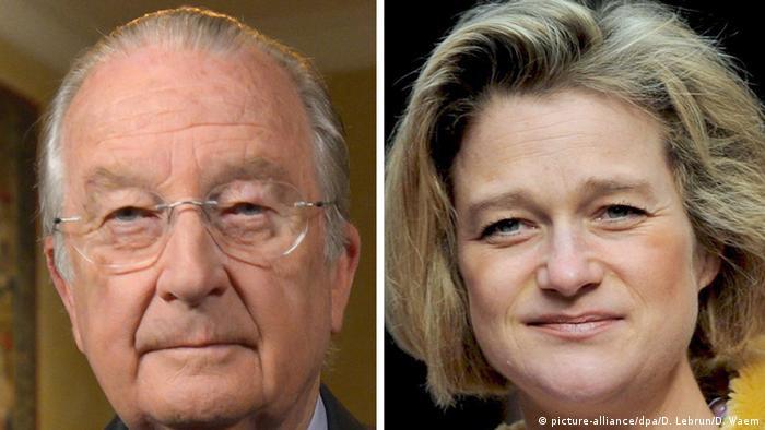 Ex-King Albert II and Delphine Boel
