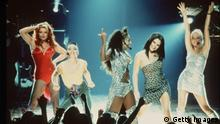 376312 01: 1997 The Spice Girls take center stage in their feature film debut, the Columbia Pictures Presentation of Spice World.