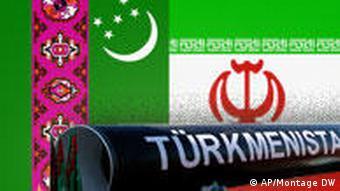 Symbolbild Turkmenistan Iran Pipeline (AP/Montage DW)