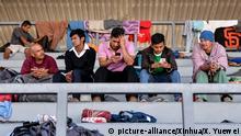Mexiko Flüchtlinge aus Mittelamerika auf dem Weg in die USA