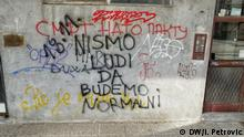 Serbien Graffiti in Belgrad