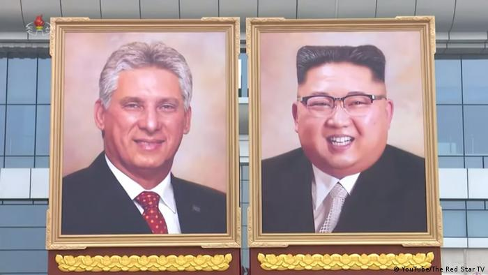Screenshot - Youtube - Portrait von Kim Jong Un und Miguel Diaz (YouTube/The Red Star TV)