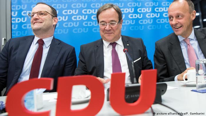 Deutschland Sitzung des CDU-Landesvorstands in NRW | Jens Spahn, Armin Laschet udn Friedrich Merz