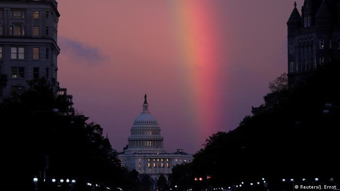 Regenbogen über dem Kapitol in Washington (Reuters/J. Ernst )