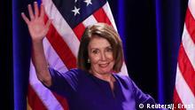 U.S. House Minority Leader Nancy Pelosi arrives onstage to celebrate the Democratic House wins at a Democratic celebration of the results of the U.S. midterm elections in Washington, U.S. November 6, 2018. REUTERS/Jonathan Ernst