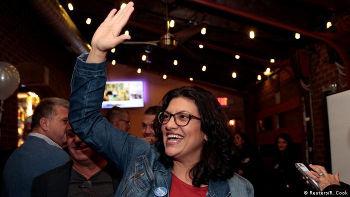 La demócrata Rashida Tlaib es una de las dos políticas musulmanas que conquistaron por primera vez un lugar en la Cámara de Representantes.