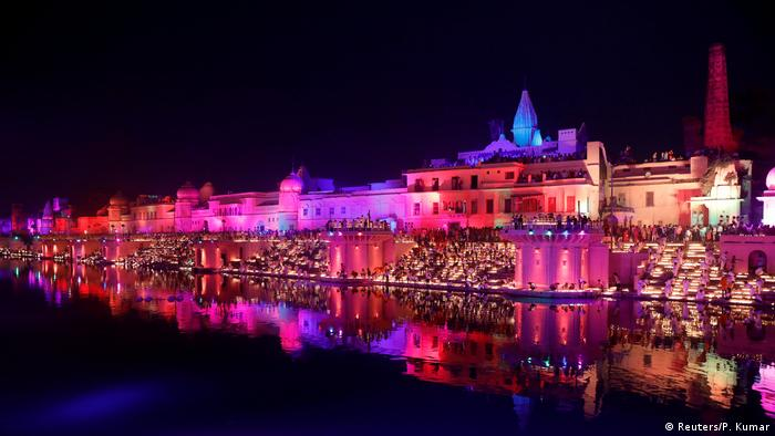 The Indian city of Ayodhya on Saturday, October 26, 2019, set a Guinness world record by illuminating 409,000 oil lamps on the banks of river Sarayu as part of Diwali.