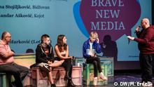 Youtuber-Panel beim Brave New Media Forum 2018 in Belgrad (DW/M. Erdelji )