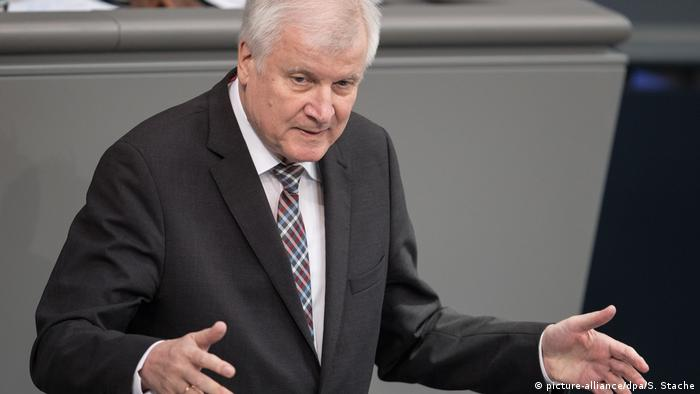 CSU leader Horst Seehofer in the German parliament (picture-alliance/dpa/S. Stache)