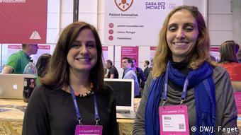 Zwei Teilnehmerinnen des Web Summits