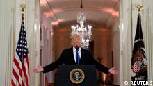 USA, Washington: Präsident Trump bei einer Midterm elections Pressekonferenz im Weißen Haus