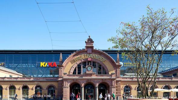 Главный вокзал в Эрфурте