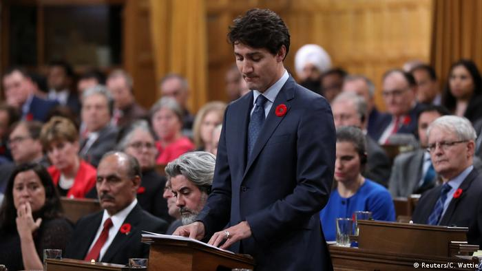 Canada's Prime Minister Justin Trudeau delivers a formal apology over the fate of the MS St. Louis and its passengers