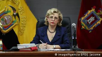 Ecuador   Anklage gegen Ex-Präsident Correa wegen der versuchten Entführung eines Oppositionspolitikers   Richterin Daniella Camacho Ecuador   Richterin Daniella Camacho (imago/Agencia EFE/J. Jacome)