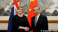 China | Außenminister Wang Yi empfängt Australiens Außenministerin Marise Payne