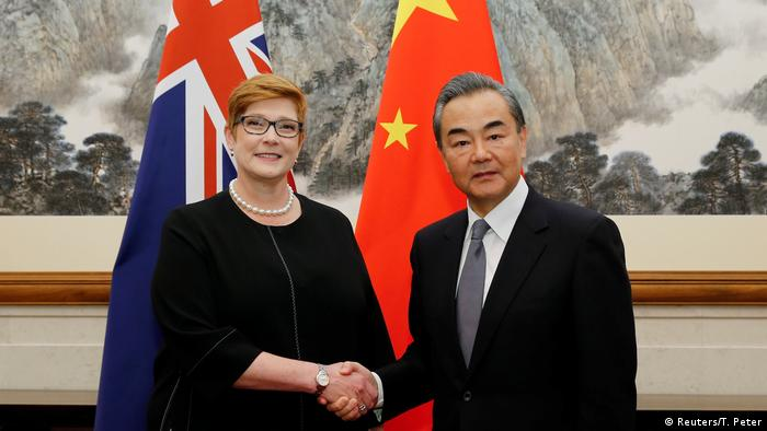 China | Außenminister Wang Yi empfängt Australiens Außenministerin Marise Payne (Reuters/T. Peter)