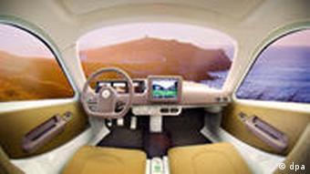 Futuristisches Interieur eines Elektroautos (Foto: DPA)