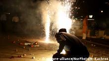 Indien Diwali Lichterfest in Neu Delhi
