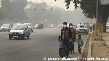 Indien gesundheitsschädlicher Smog in Neu Delhi