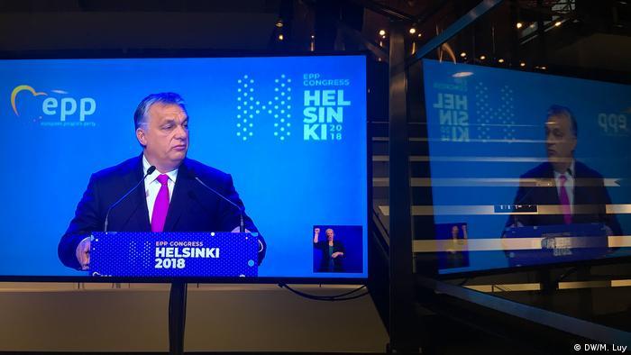 Виступ угорського прем'єра Віктора Орбана на конгресі ЄНП у Гельсінкі 2018 року