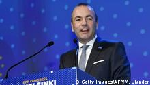 Kongress der EVP in Helsinki Manfred Weber