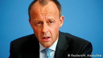 Berlin: Pressekonferenz mit Friedrich Merz (Reuters/H. Hanschke)