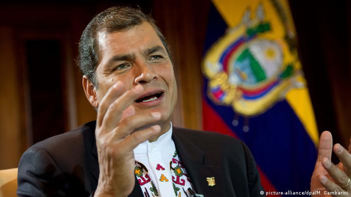 Ecuador's former President Rafael Correa