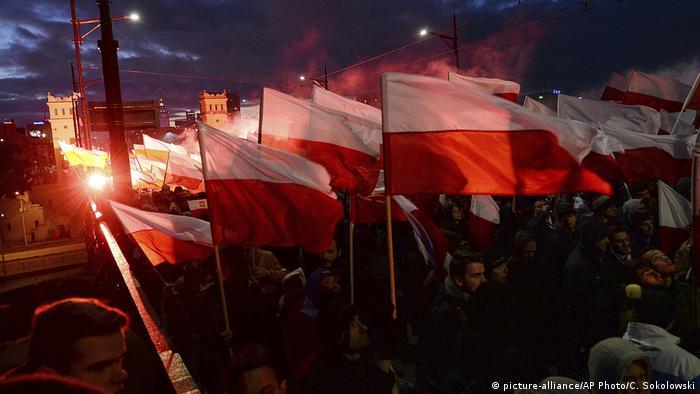 Демонстрация националистов в Варшаве в 2017 году