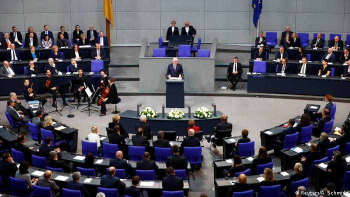 Франк-Вальтер Штайнмайер выступает в бундестаге