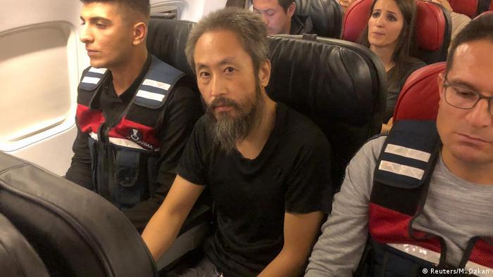 Türkei Journalist Jumpei Yasuda auf dem Flug nach Istanbul (Reuters/M. Ozkan)