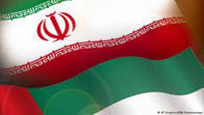 Symbolbild Iran Vereinigte Arabische Emirate Flagge (AP Graphics/DW Fotomontage)