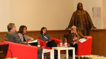 На конференции в Берлине. Справа - Светлана Ганнушкина