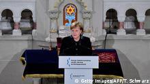 Berlin Gedenken Pogromnacht 1938 Merkel in der Synagoge