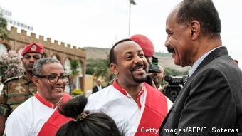 Äthiopien Premierminister Abiy Ahmed empfängt Eritreas Präsident Isayas Afewerki